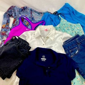 Lot of girl's size 14-16 summer clothes (8ct)